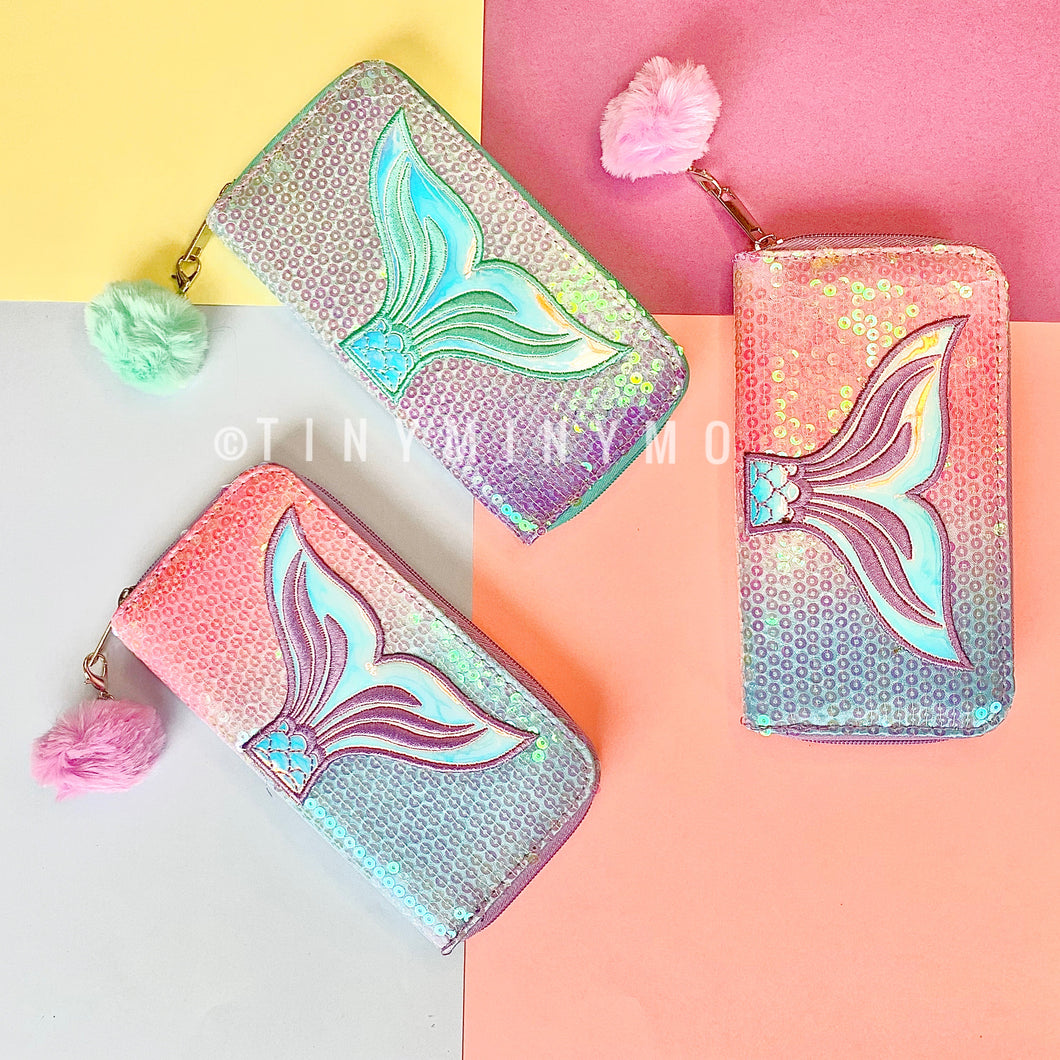 Holographic Mermaid Wallet