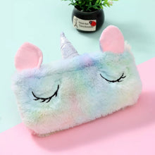 Load image into Gallery viewer, Plush Unicorn Pencil Pouch