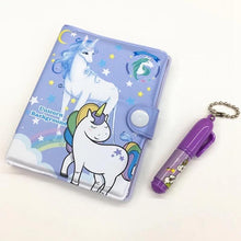 Load image into Gallery viewer, Mini Diary with Pen - Unicorn - TinyMinyMo