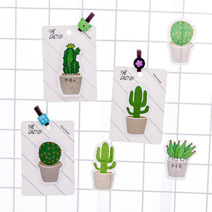 Cactus Shaped Sticky Notes - TinyMinyMo