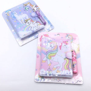 Mini Diary with Pen - Unicorn - TinyMinyMo