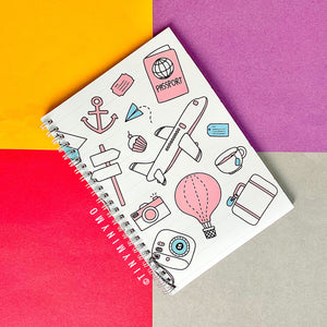 Doodle Cover Notebook - Travel - TinyMinyMo