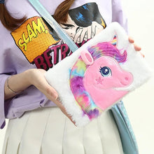 Load image into Gallery viewer, Unicorn Plush Diary