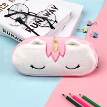 Load image into Gallery viewer, Plush Unicorn Zipper Pouch