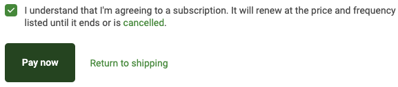Agree to subscription