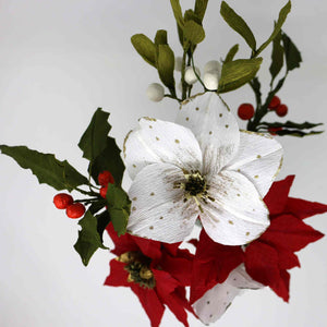 Create a paper festive flower bouquet
