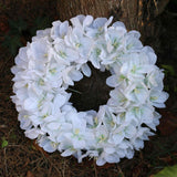 Handmade white paper crocus wreath