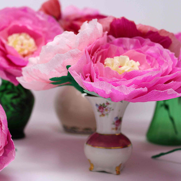 mini paper peonies for events