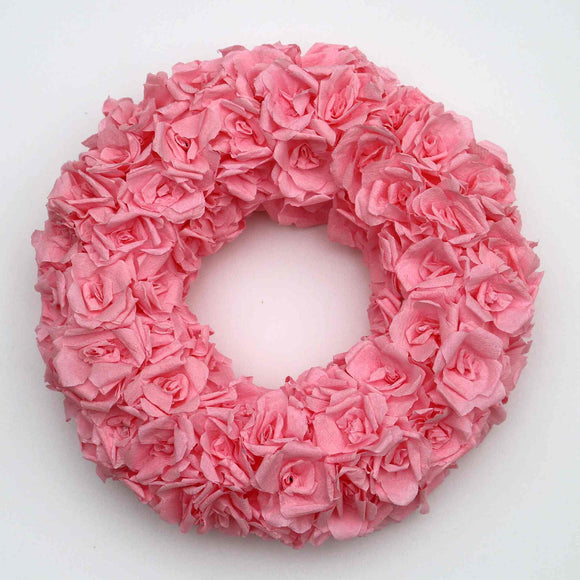 Handmade rose wreath