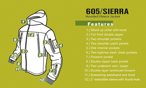 Condor SIERRA Hooded Fleece Jacket