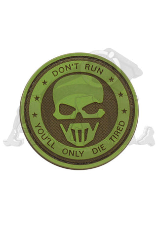 Patch: Don't Run, You'll Only Die Tired (green/tan)