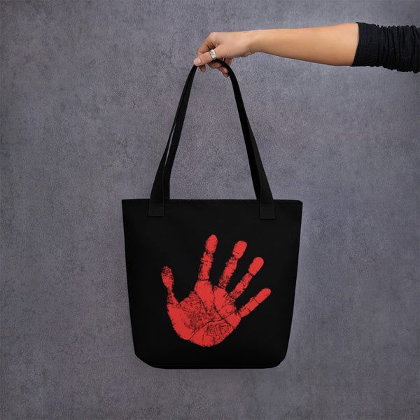 Missing Murdered Indigenous Women Tote Bag - Red hand - MMIW