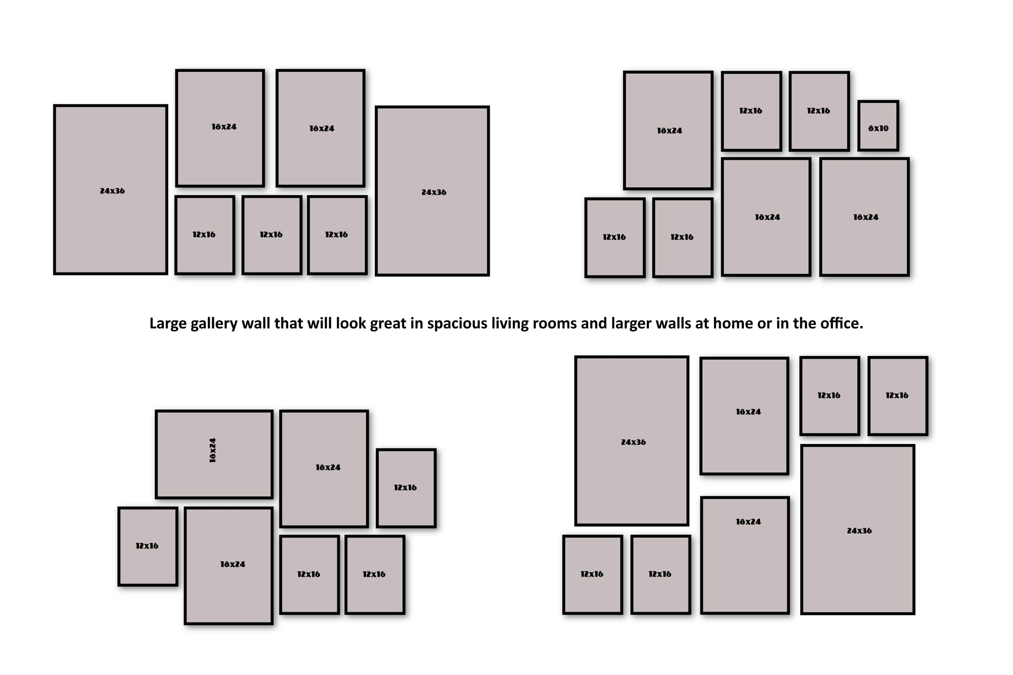 Large gallery walls templates