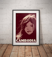 Load image into Gallery viewer, Vintage poster Cambodia - Cambodian Girl | Wall Art Decor | Travel Poster | Fine Art Print