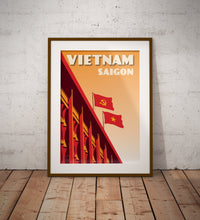 Load image into Gallery viewer, Vintage poster Vietnam - Independance Palace | Wall Art Decor | Travel Poster | Fine Art Print