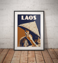 Load image into Gallery viewer, Vintage poster Laos - Lao Woman | Wall Art Decor | Travel Poster | Fine Art Print