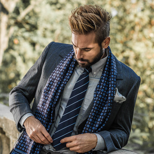 mens luxury handmade Italian silk ties