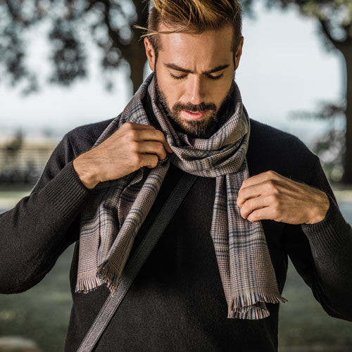 mens luxury handmade Italian wool scarves