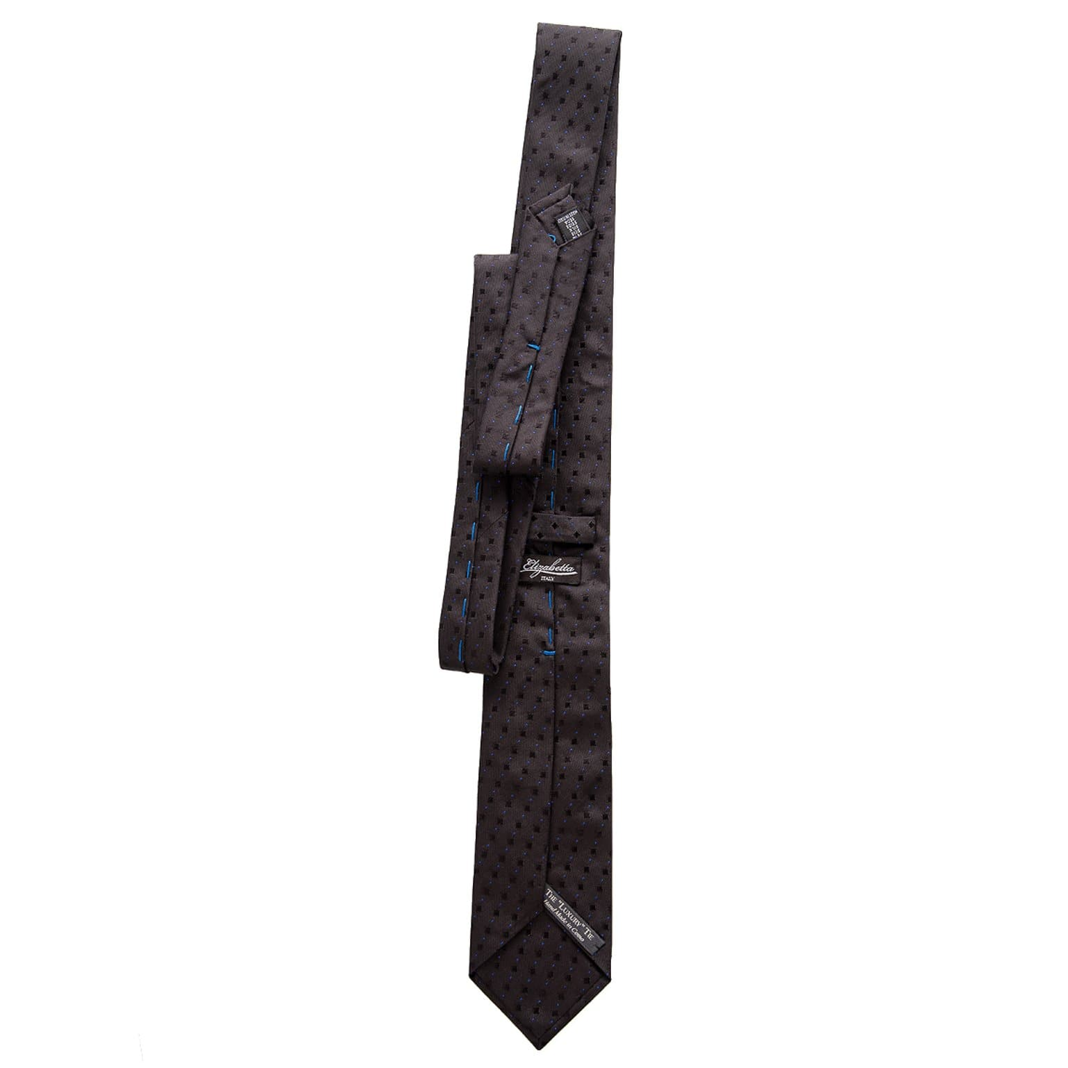 mens black formal silk neck tie