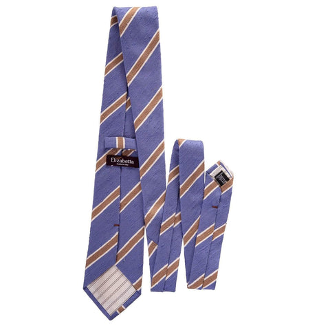 blue striped shantung necktie