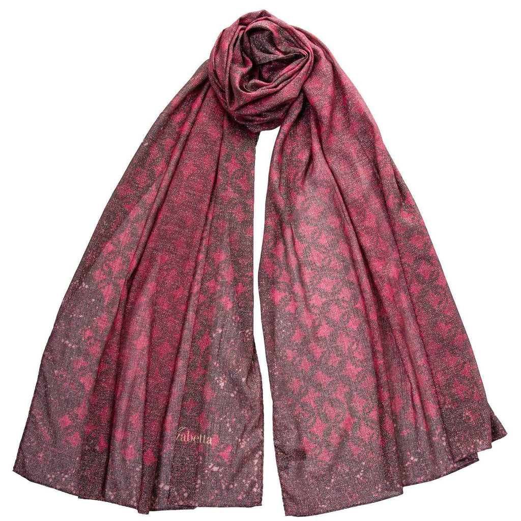 Lurex Scarf Wrap - Merlot Color - Made in Italy
