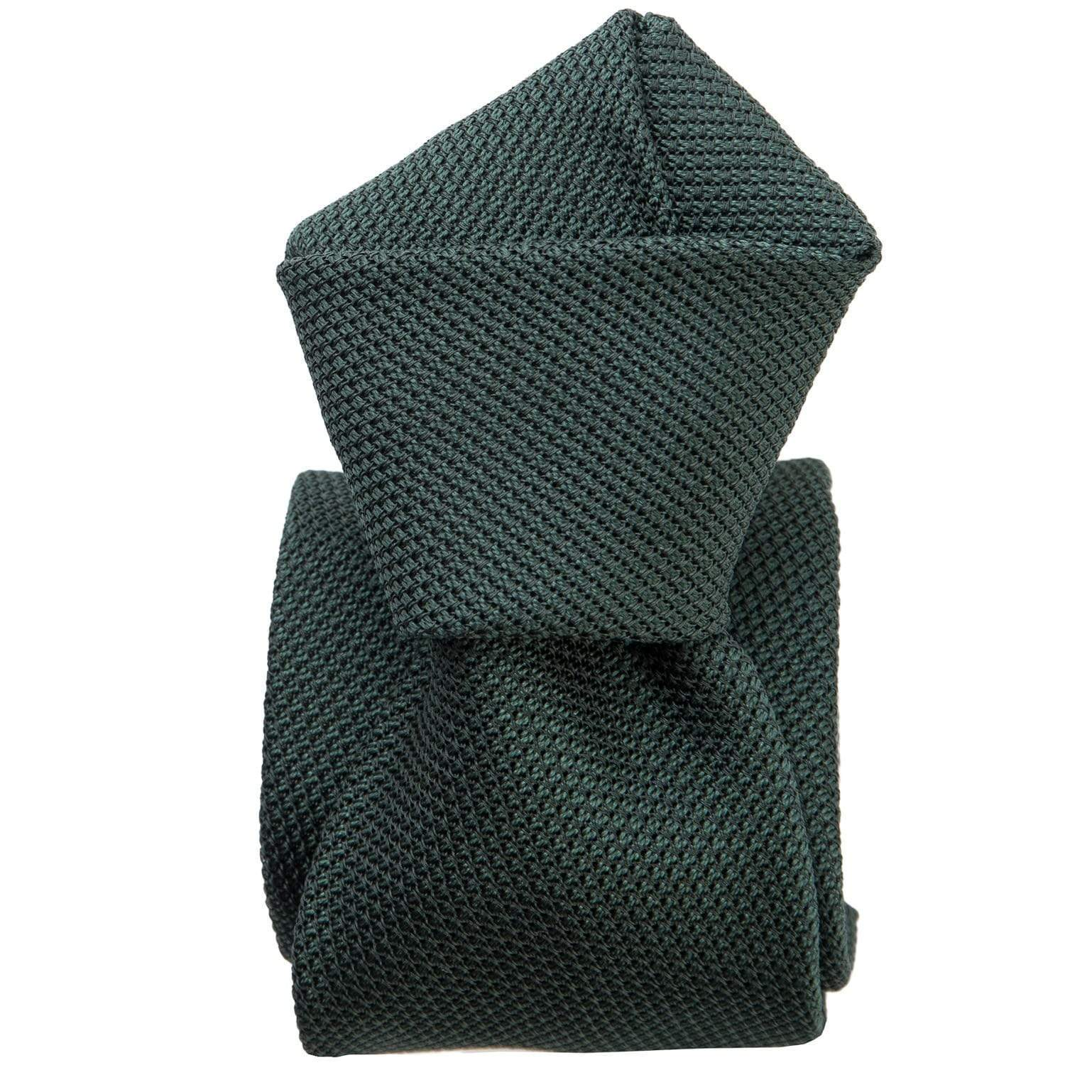 Silk Grenadine Tie - Forest Green - Made in Italy