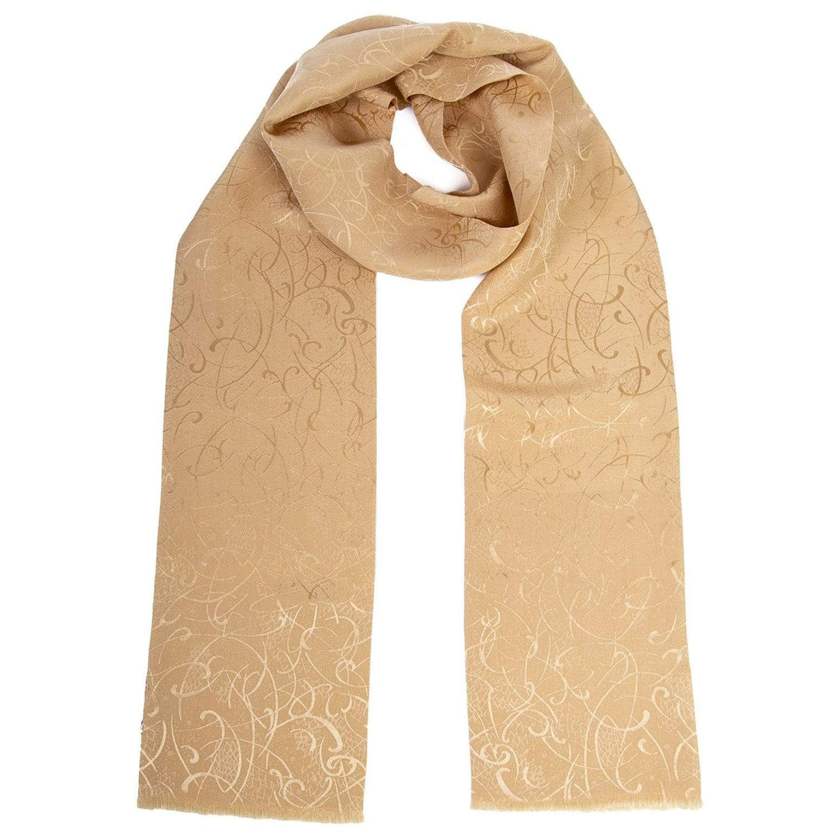 Mens Gold Silk Scarf - Formal Tuxedo - Made in Italy