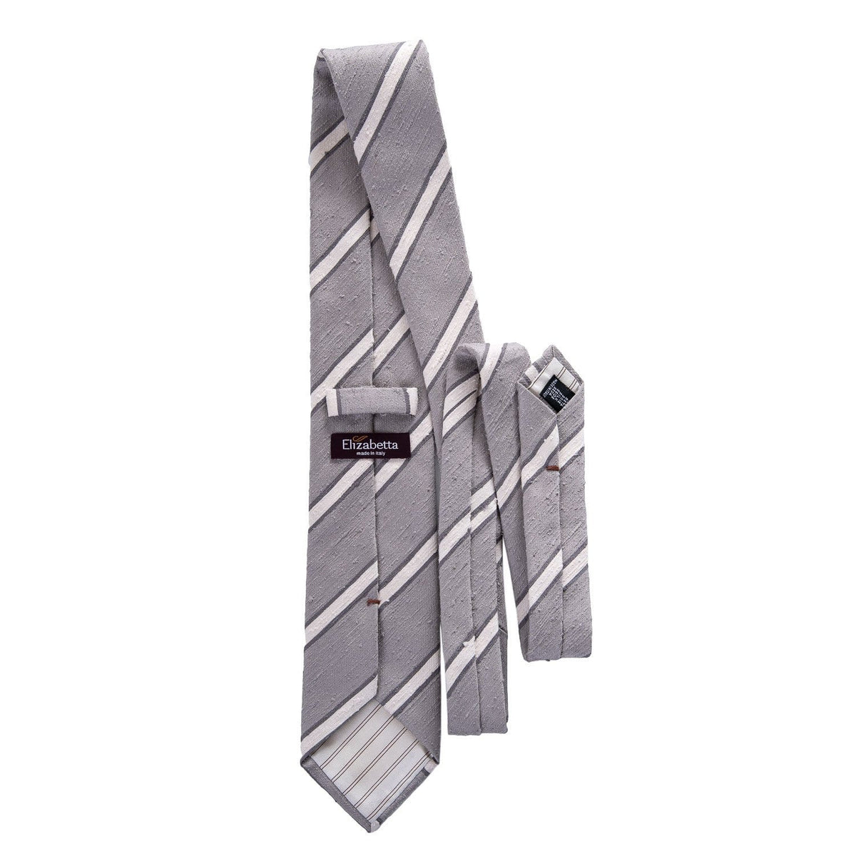 luxury shantung tie grey and cream
