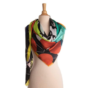 oversized silk wrap