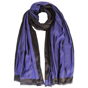 Blue Evening Wrap - 100% Silk - Handmade in Italy