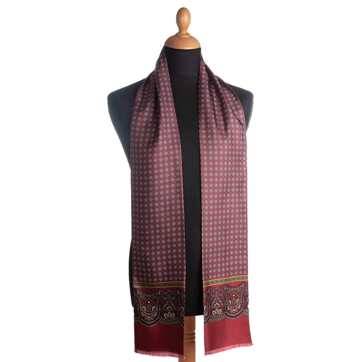 mens burgundy scarf