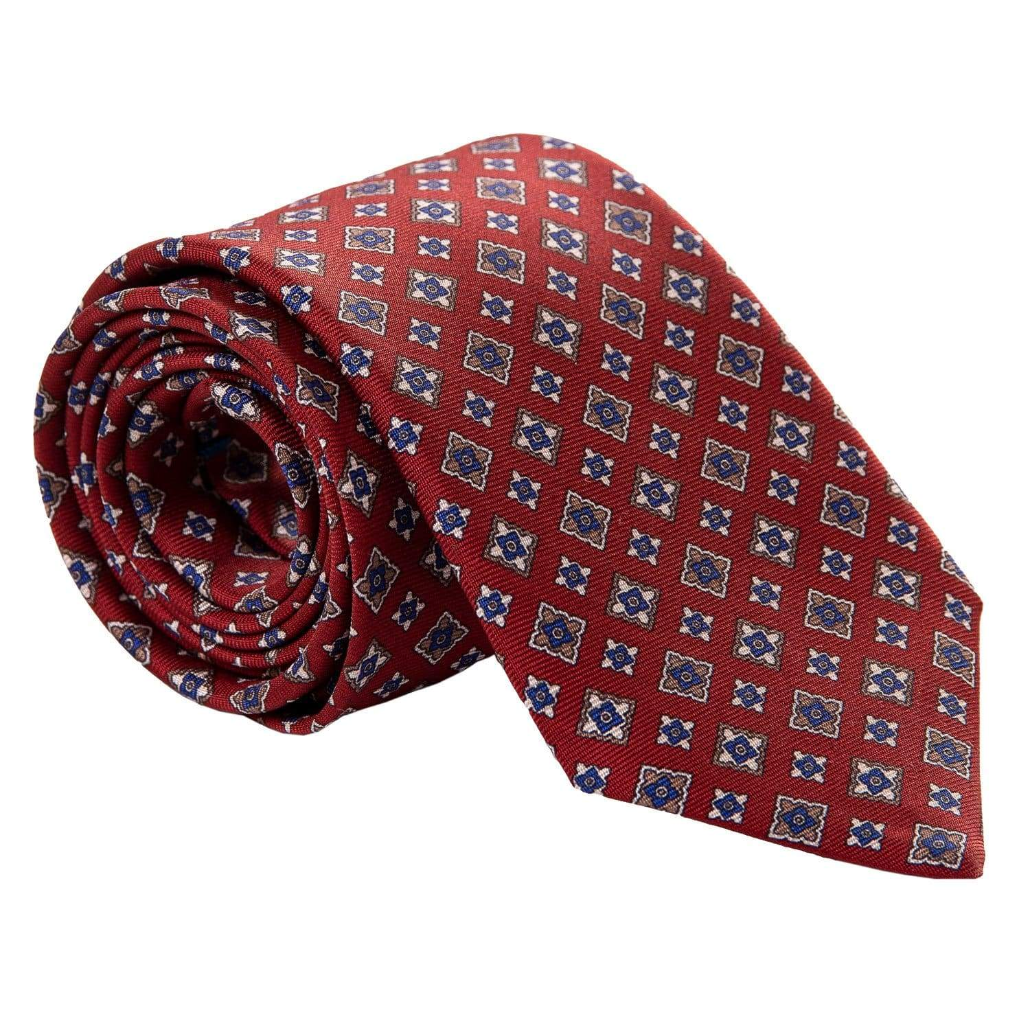 Hand-made silk tie from Italy