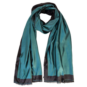 Emerald Green Shawl - Silk - Handmade in Italy