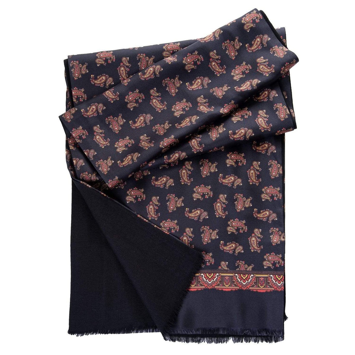 Luxury Italian silk double silk wool scarf