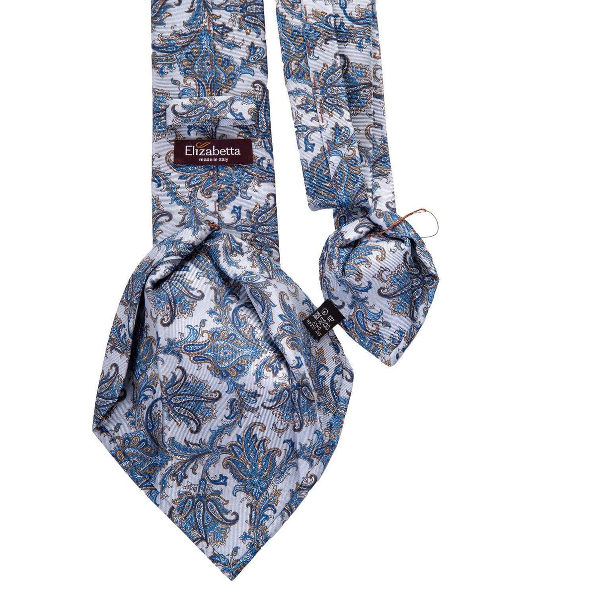 Blue Paisley Silk Tie - 3 Fold - Made in Como Italy