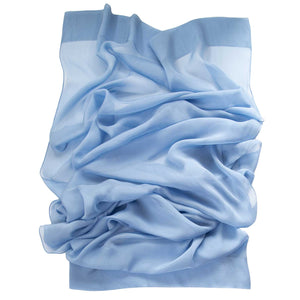 blue silk shawl made in Italy