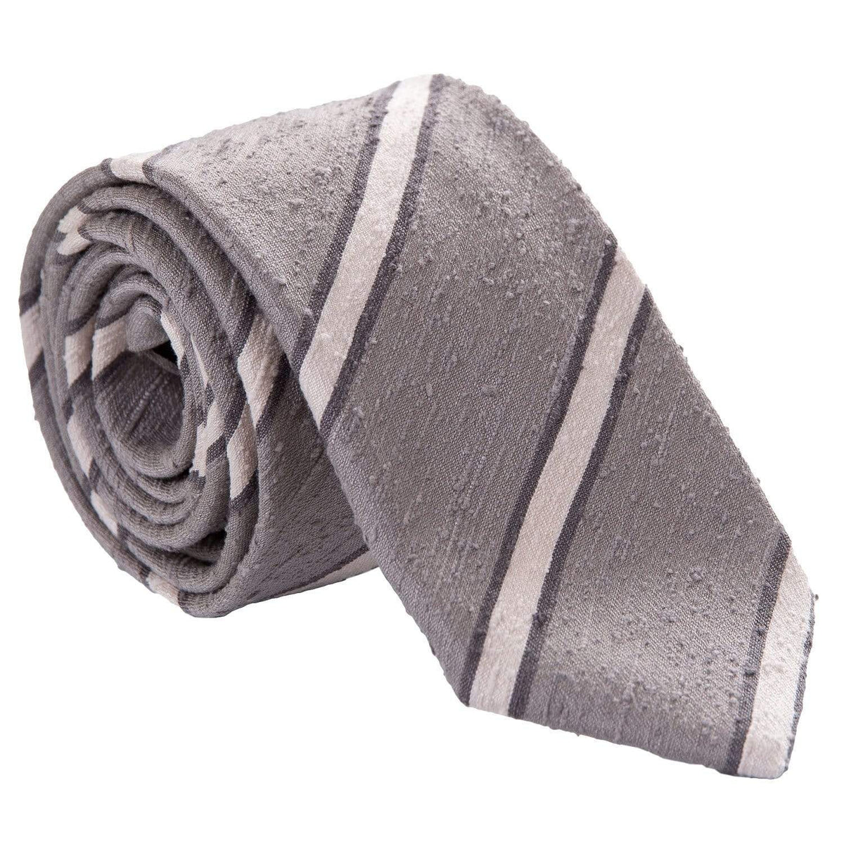 grey shantung tie from italy