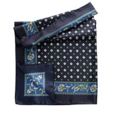 luxury Italian silk scarf for men