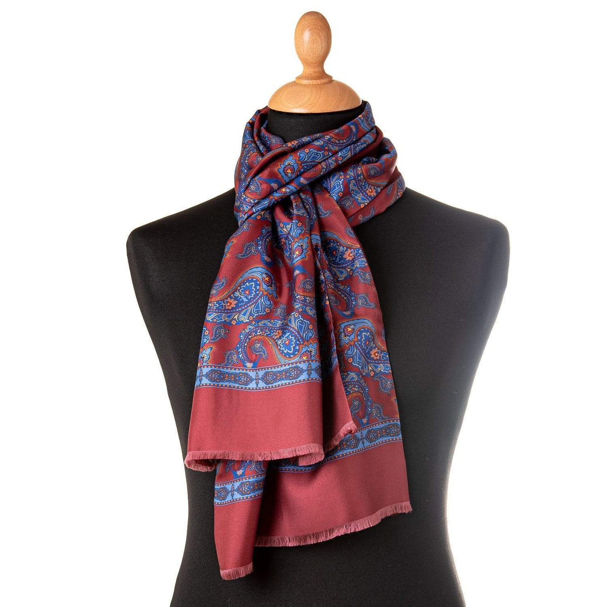 silk wool reversible scarf