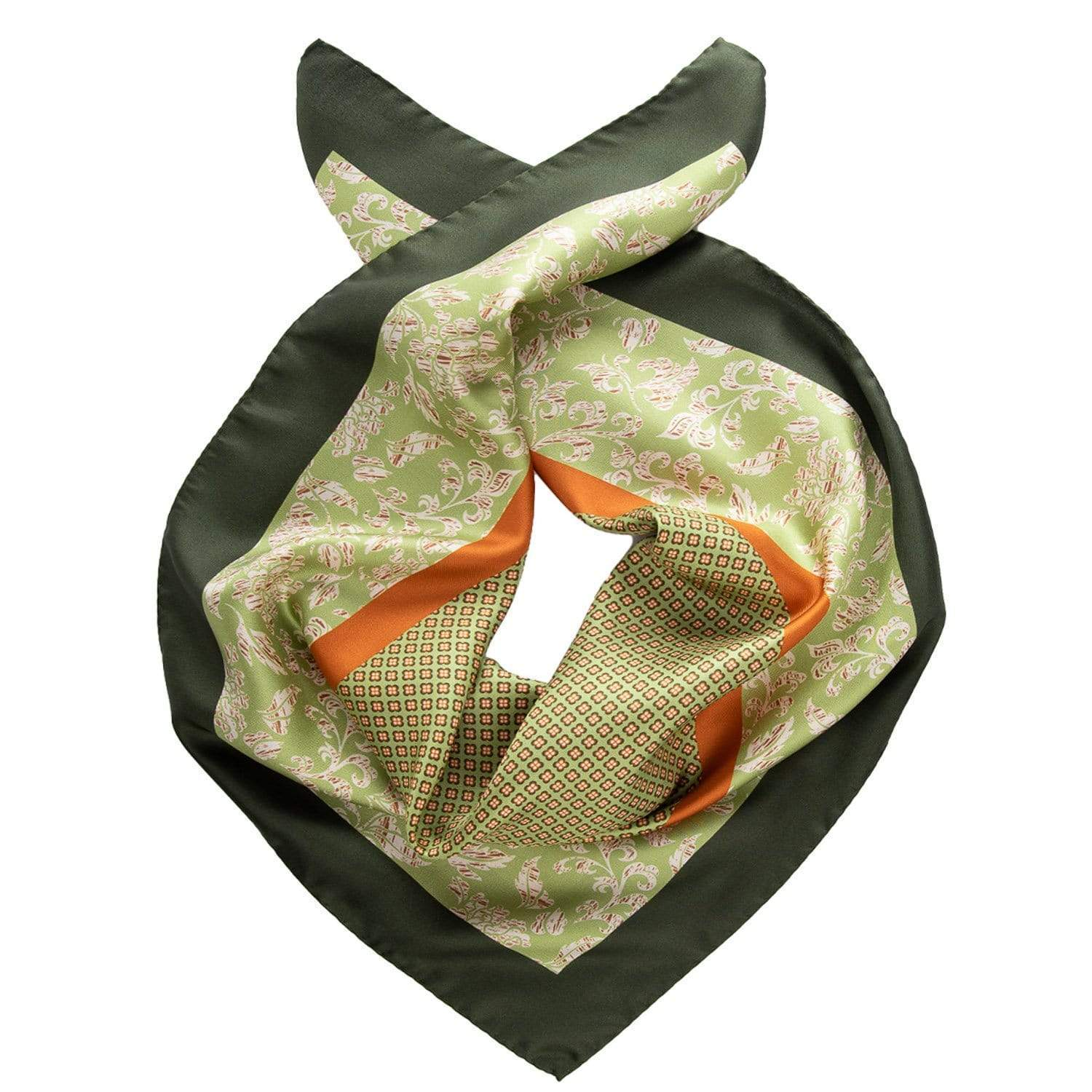Large Silk Bandana - 100% Made in Italy - Green