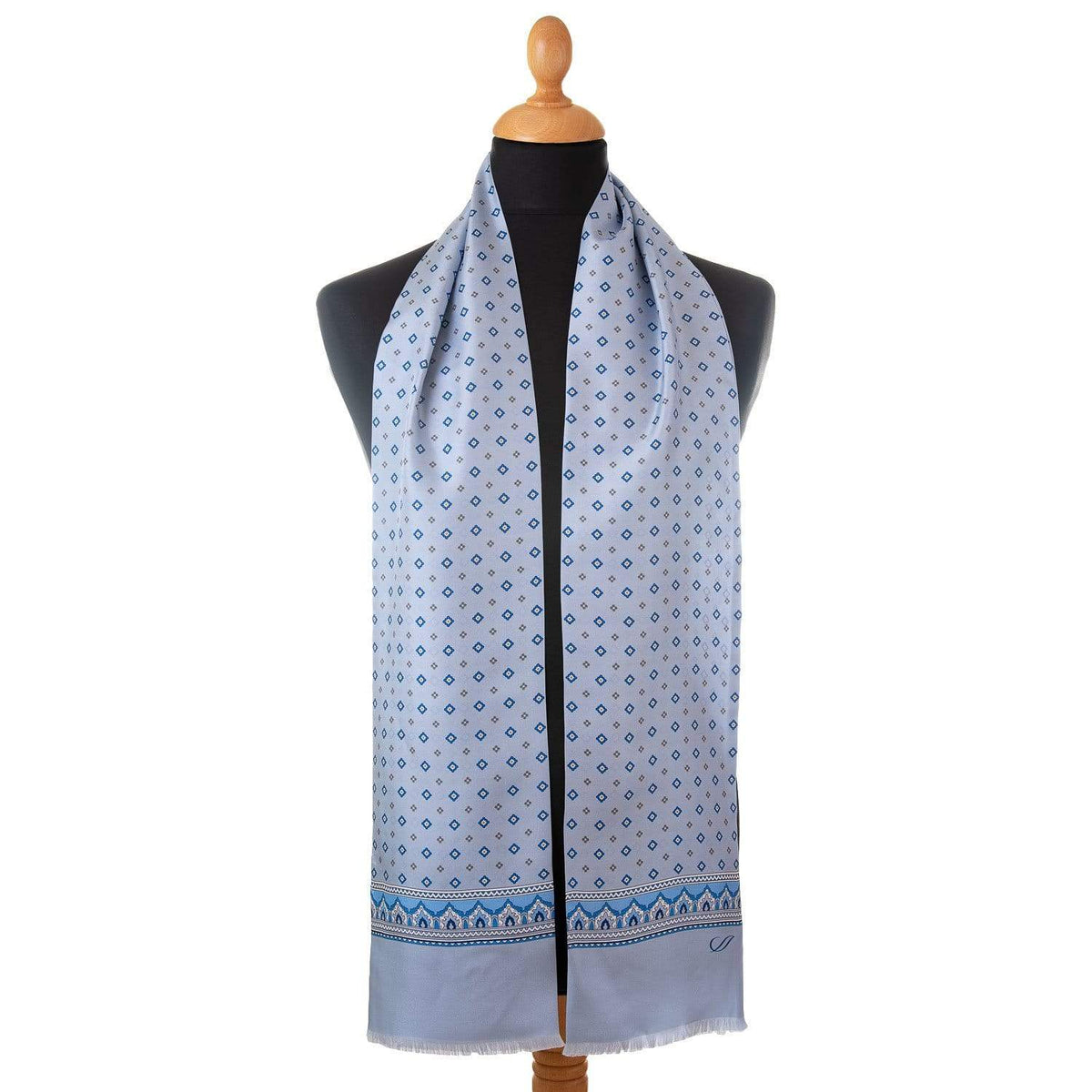 light blue silk scarf for men