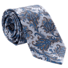 Light Blue Paisley Tie - 3 Fold - Made in Como Italy