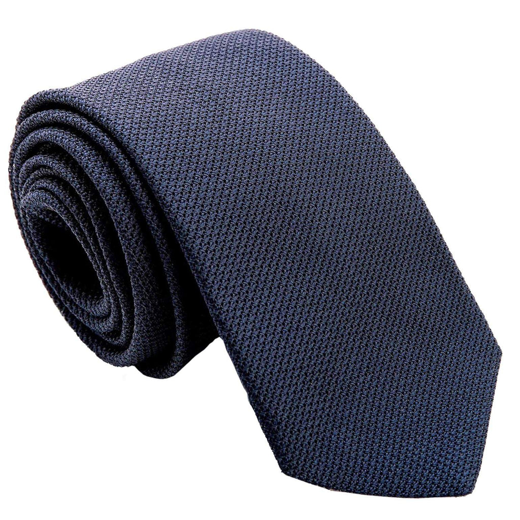 Navy Blue Grenadine Tie from Italy
