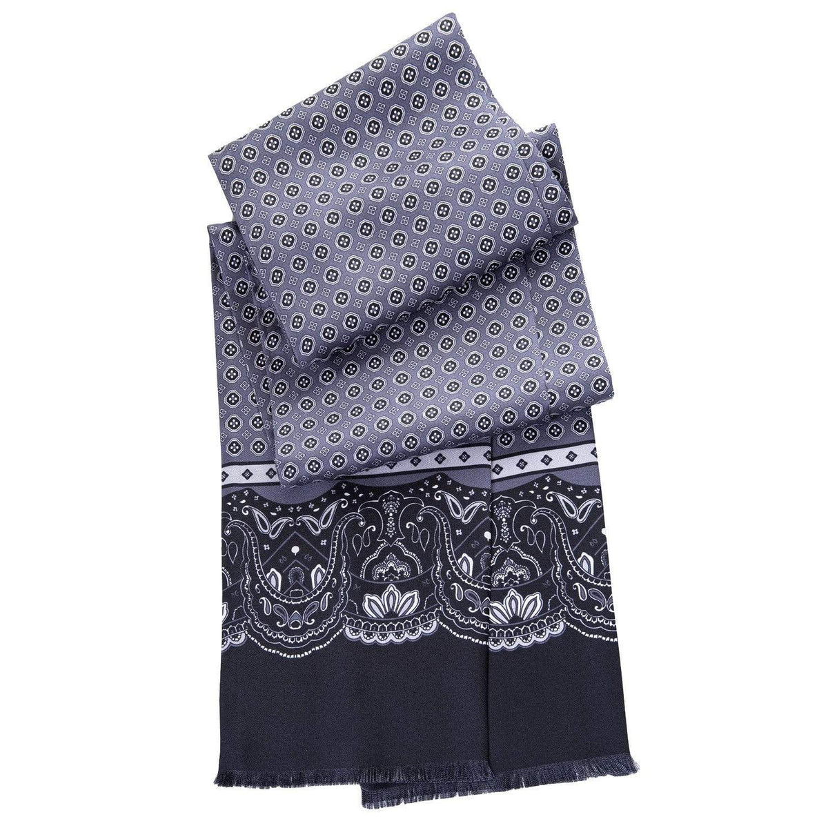 skinny silk tubular scarf for men