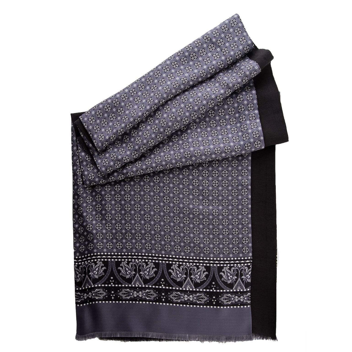 classic silk wool reversible scarf