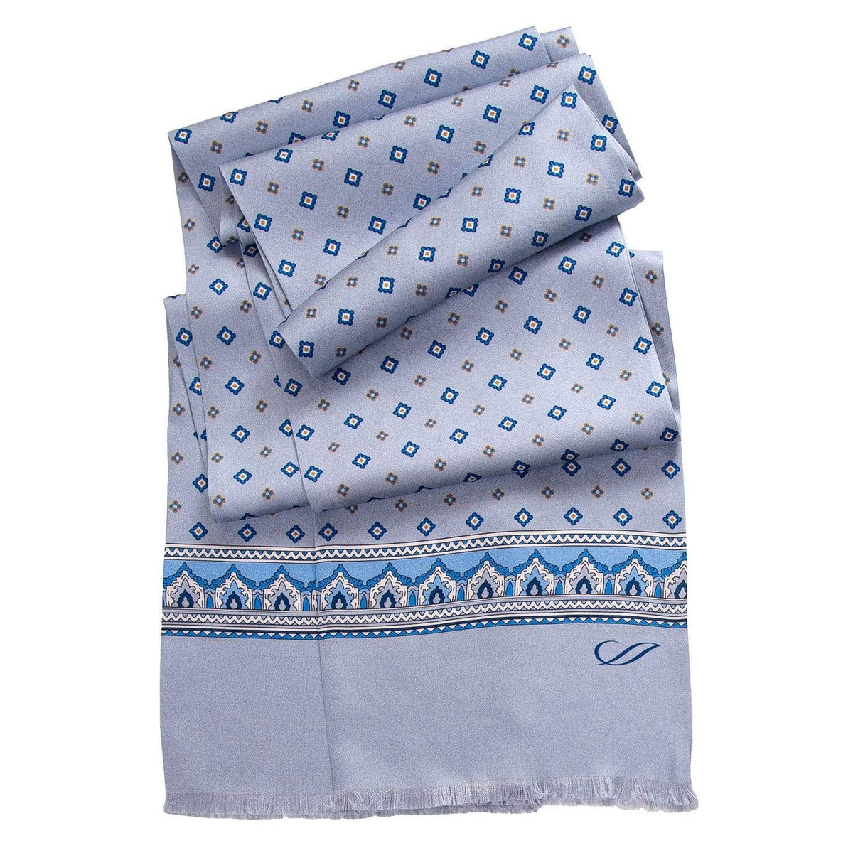 sky blue mens silk scarf