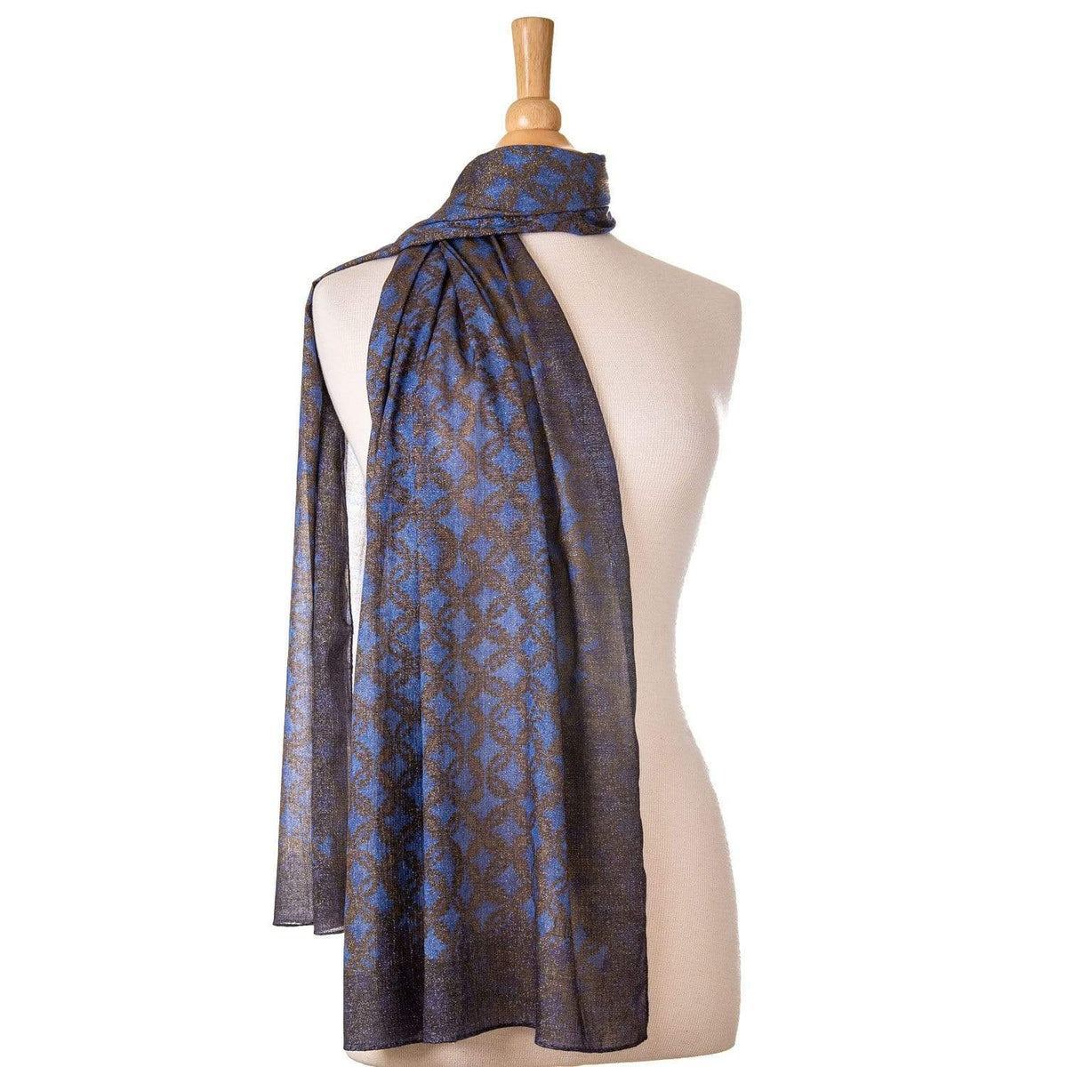 blue and gold scarf