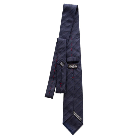 solid navy Italian tie for men