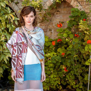 Large Silk Square Scarf - Satin - 100% Made in Italy