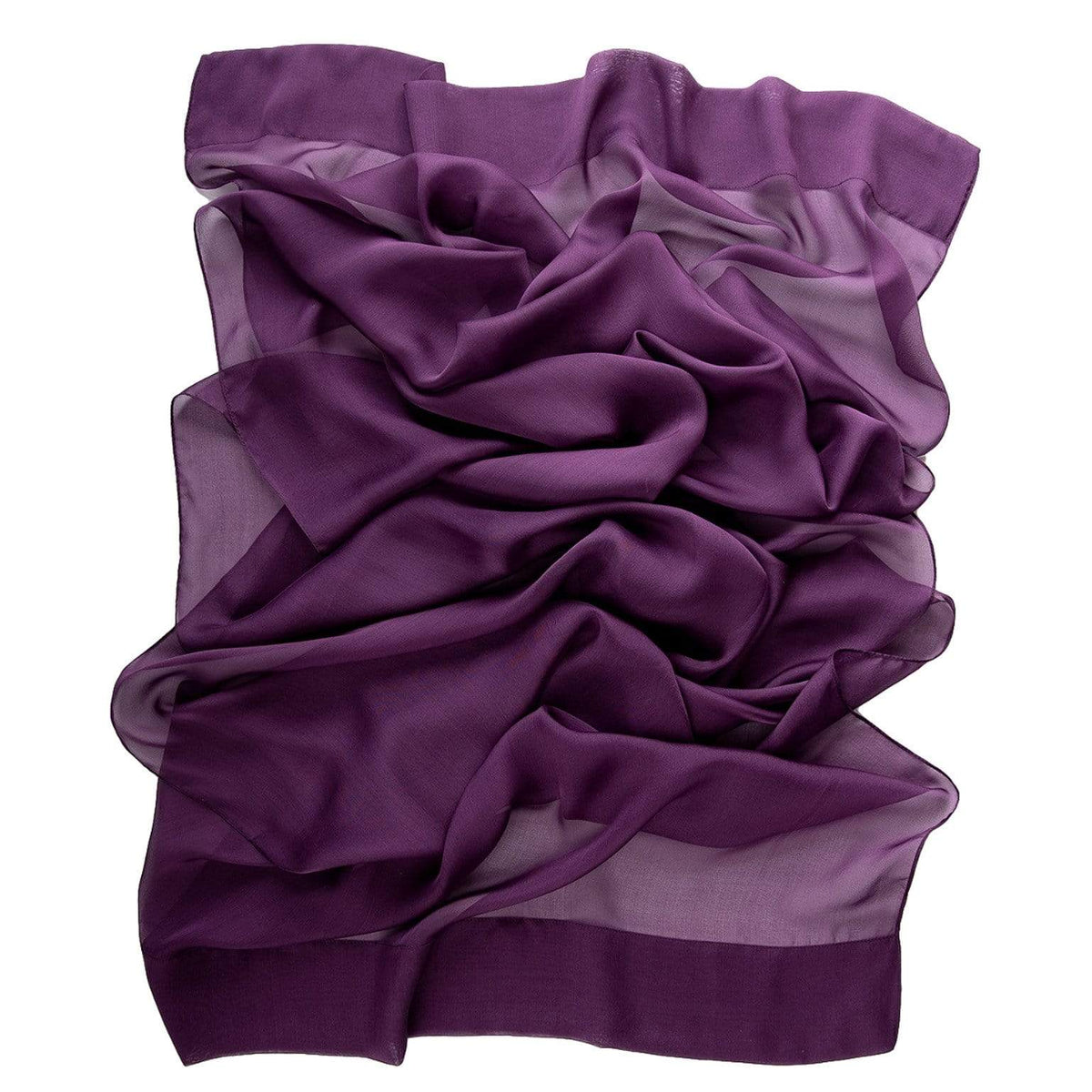 purple evening scarf